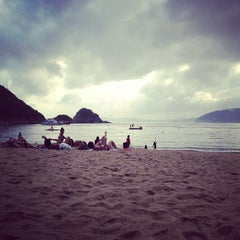 Photo taken at South Bay Beach 南灣泳灘 by Fiona C. on 5/18/2013