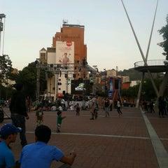 Photo taken at Plaza Alfredo Sadel by Maria A. on 3/31/2013