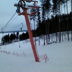 "Photo taken at Горнолыжный курорт ""Жебреи"" by Vadim M. on 2/27/2013"