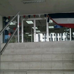 Photo taken at Biblioteca Simón Bolívar by Michelle V. on 11/1/2012