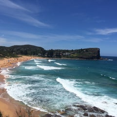 Photo taken at Avalon Beach by Diegão .. on 1/1/2016