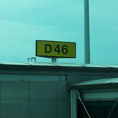 Photo taken at Gate D46 by Agung R. on 10/21/2012