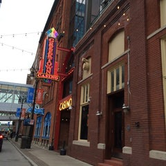 Photo taken at Greektown Historic District by Leslie T. on 10/2/2014