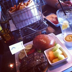 Photo taken at Delux Burger by Margaret on 9/19/2012