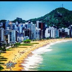 Photo taken at Praia da Costa by Thiago F. on 11/25/2012