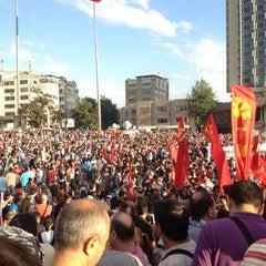 Photo taken at Taksim Gezi Parkı by Turan A. on 6/1/2013