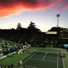 Photo taken at Taube Family Tennis Stadium by Jun on 8/5/2015