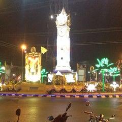 Photo taken at หอนาฬิกาเมืองมหาสารคาม (Maha Sarakham Clock Tower) by Pichpattra W. on 12/31/2013