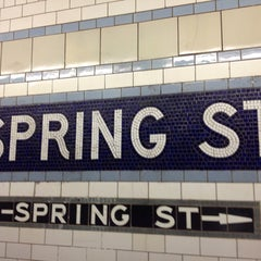 Photo taken at MTA Subway - Spring St (6) by Olivier K. on 7/29/2013