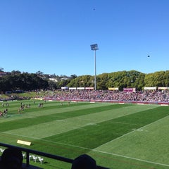 Photo taken at Brookvale Oval by Andrew H. on 8/31/2014