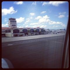 Photo taken at Aeropuerto Internacional del Cibao by Darlyn P. on 10/4/2012