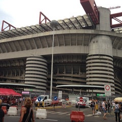 "Photo taken at Stadio San Siro ""Giuseppe Meazza"" by Michele T. on 6/20/2013"