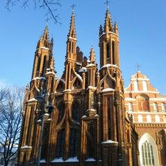 Photo taken at Šv. Onos Bažnyčia   St Anne's Church by Donatas G. on 12/23/2012