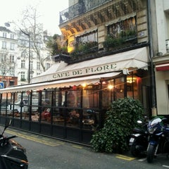 Photo taken at Café de Flore by Yi S. on 1/8/2013