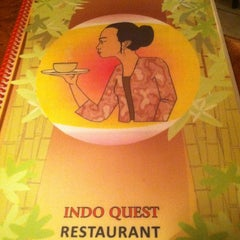 Photo taken at IndoQuest Resturaunt by Michelle B. on 3/9/2013