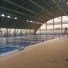 Photo taken at 29 Ekim Olimpik Yüzme Havuzu by Tekin I. on 3/21/2013