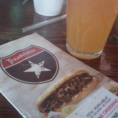 Photo taken at Texadelphia Sandwiches & Sports by Brandon K. on 3/24/2015