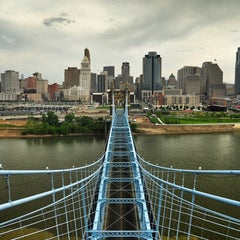 Photo taken at John A. Roebling Suspension Bridge by Chris T. on 5/21/2013