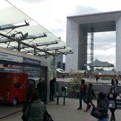 Photo taken at RER La Défense – Grande Arche [A] by Jae Yong K. on 4/22/2013
