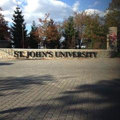 Photo taken at St. John's University by Alaska on 10/21/2012