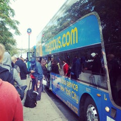 Photo taken at Mega Bus - W 34th St & 11 Av (Amherst/Chicago/Fairhaven/Albany/Burlington/Philadelphia/Washington DC/Boston/Syracuse/Rochester/Buffalo/Toronto/State Collage/Pittsburg) by Stanley X. on 9/30/2012
