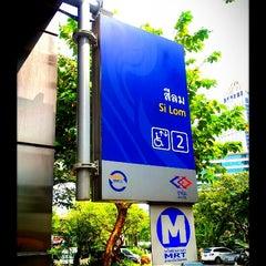 Photo taken at MRT สีลม (Si Lom) SIL by ภพภัชภาการ ข. on 11/4/2012