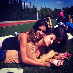 Photo taken at Soccer Field & Running Track ACG-Deree by Despinaa K. on 9/24/2013