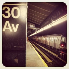 Photo taken at MTA Subway - 30th Ave (N/Q) by Emily K. on 10/17/2012