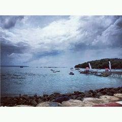 Photo taken at Pantai Barat Pangandaran by Tiffy M. on 12/24/2012