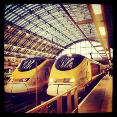 Photo taken at London St Pancras Eurostar Terminal by JULIE S. on 4/11/2013