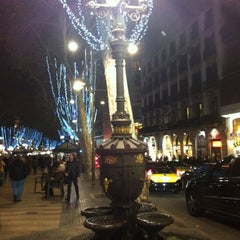 Photo taken at Font de Canaletes by Anna P. on 11/24/2012