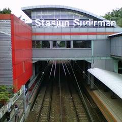 Photo taken at Stasiun Sudirman by Adi R. on 1/8/2013