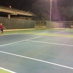 Photo taken at Austin High Tennis Center by Raja M. on 1/25/2013