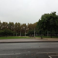 Photo taken at Parc Gandhi by Gloria J. on 10/11/2012