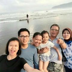 Photo taken at Pantai Barat Pangandaran by Salman Y. on 8/22/2015