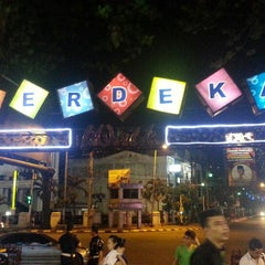 Photo taken at Merdeka Walk by Bobby I. on 3/14/2013