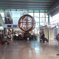 "Photo taken at Aeroporto Roma Fiumicino ""Leonardo da Vinci"" (FCO) by Anastasia A. on 5/6/2013"