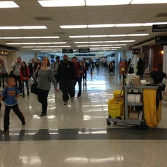 Photo taken at Concourse B by Aaron G. on 3/28/2013