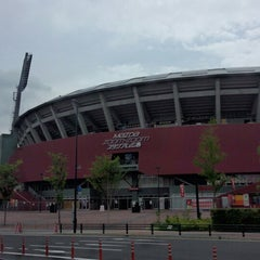 Photo taken at MAZDA Zoom-Zoom スタジアム広島 by F14A10rqlY y. on 7/2/2013