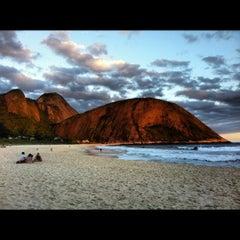 Photo taken at Praia de Itacoatiara by Daniela S. on 11/19/2012