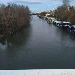 Photo taken at Pont de Levallois by Hajer H. on 1/14/2016