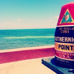 Photo taken at Southernmost Point Continental USA by Matt F. on 7/18/2013