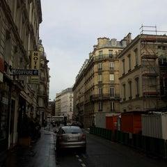 Photo taken at Place Maubert by Harun Ü. on 10/16/2012
