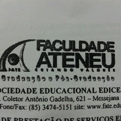 Photo taken at Faculdade Ateneu - Sede Messejana by Hebert F. on 1/22/2013