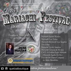 Photo taken at Mariachi Plaza by Quetzal B. on 11/21/2015