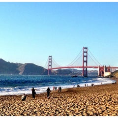 Photo taken at Baker Beach by Michelle on 5/19/2013