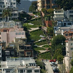 Photo taken at Lombard Street by Jenny S. on 10/19/2012