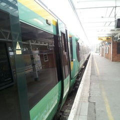 Photo taken at Horsham Railway Station (HRH) by Kerwin M. on 11/16/2012