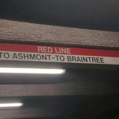 Photo taken at MBTA Red Line by Marcus on 1/18/2016