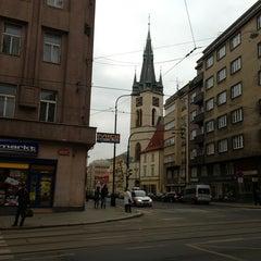 Photo taken at Štěpánská (tram) by Syuzanna S. on 3/18/2013